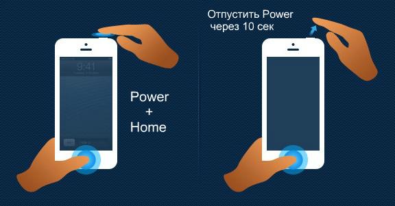 iphone режим DFU