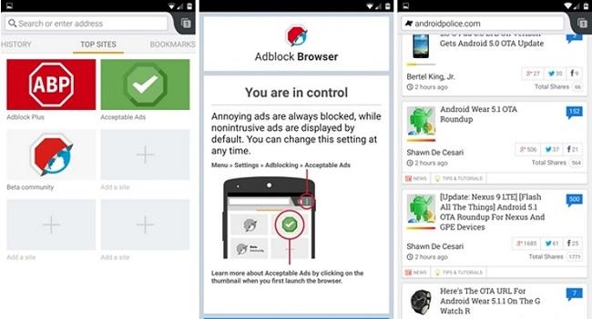 Ad Block Browser для андроид