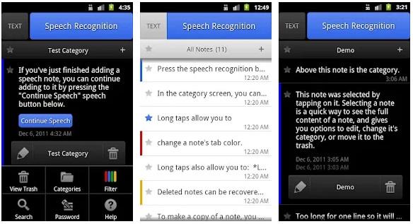 List Note Speech-to-Text