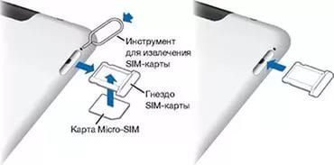 елефон Андроид вставляем SIM-карту