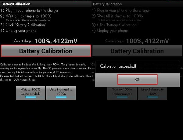программа Battery Calibration андроид