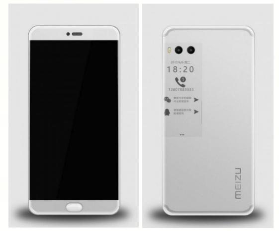 телефон с 2 экранами MEIZU PRO 7