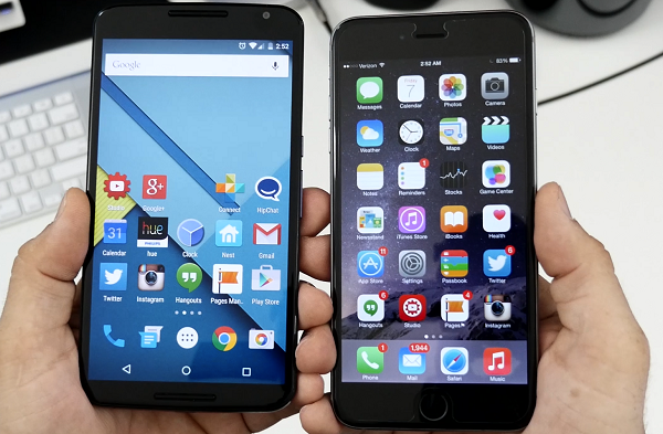 андроид и iphone